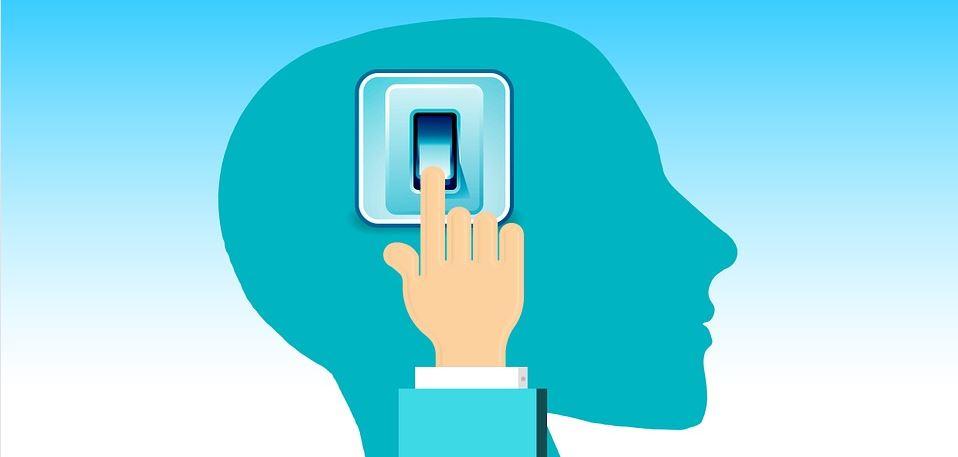 Abnehmen mit Hypnose - Symbolbild Schalter im Kopf