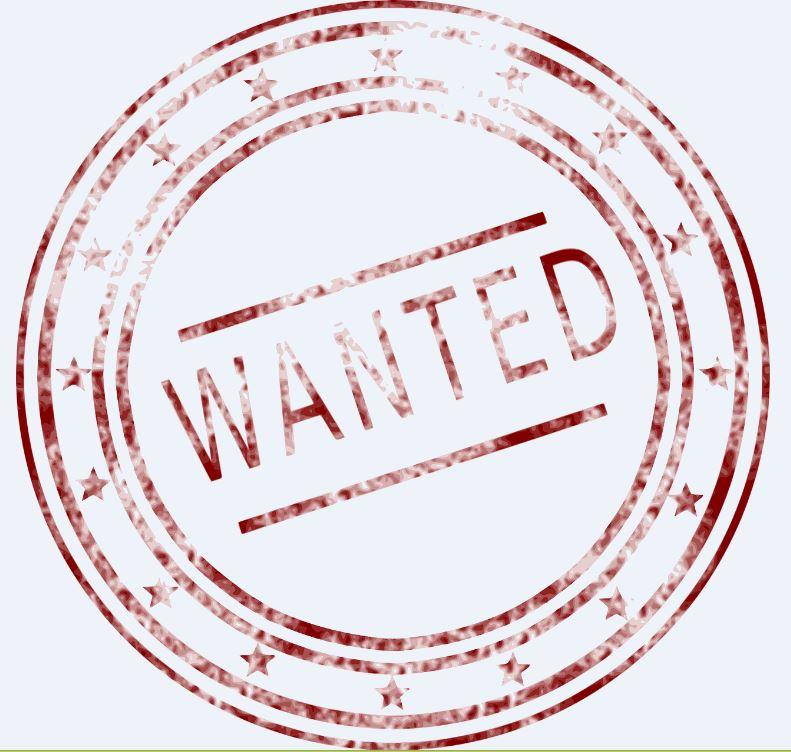 Wanted Bild als Symbol